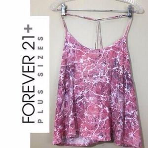 Pink marbled cami